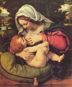 Mary totally breastfed the infant Jesus. Merry Christmas from your favorite Salty Mama
