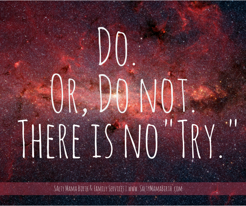 Inspirational Quote: Do. Or Do Not. There Is No Try. Yoda