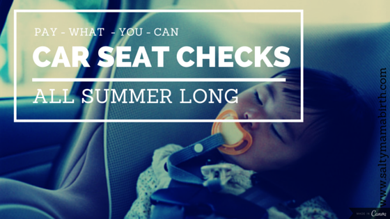 Ruth Castillo is offering car seat checks all summer long. Pay what you can.