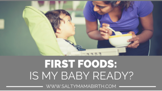 "Blog Title: First Foods - Is My Baby Ready? Header image designed by Ruth Castillo, adapted with photograph, ""Mimi Feeding 2"" by Phillippe Put (via Flickr)"