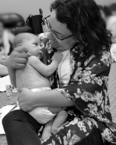 Ruth and BabyW Infant Massage | Ruth Castillo Salty Mama Doula San Antonio Texas
